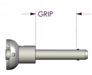Locking Pin System E - glue in